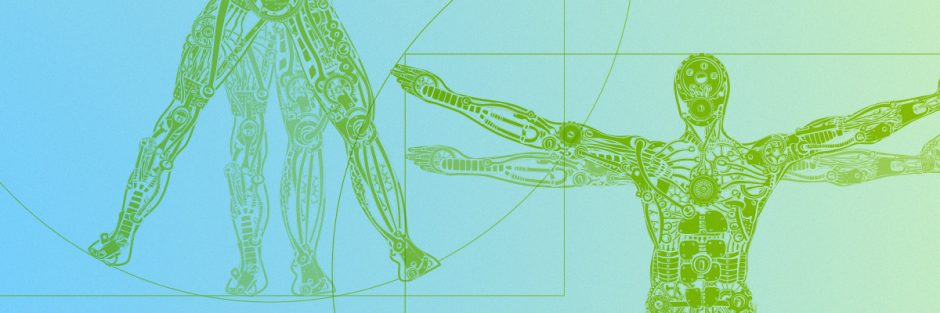 DaVinci Illustration of human body in circle