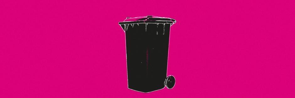 Illustration of smart dust bin