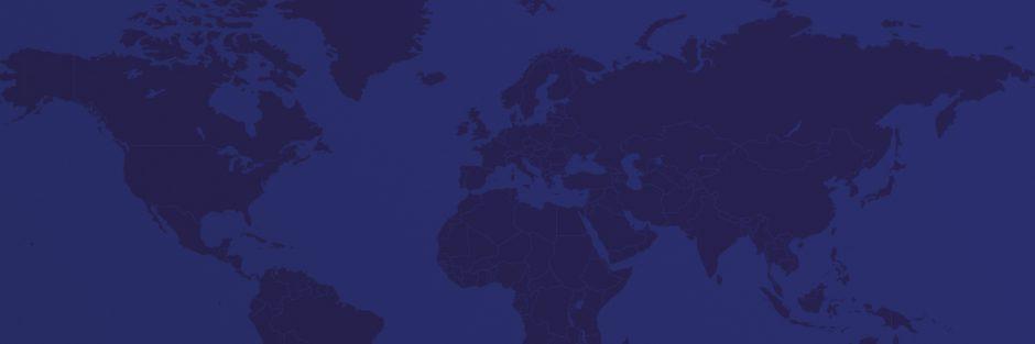 Karte um die Welt