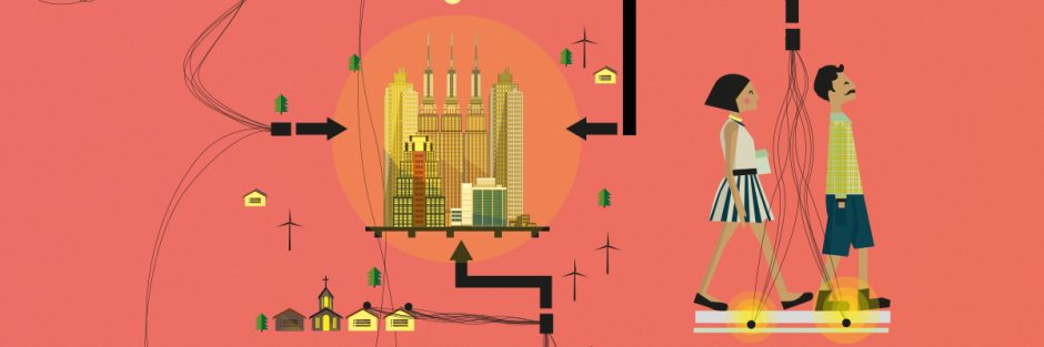 Illustration of power generation through steps