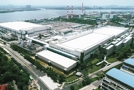 Microns Industriegebäude in Singapur